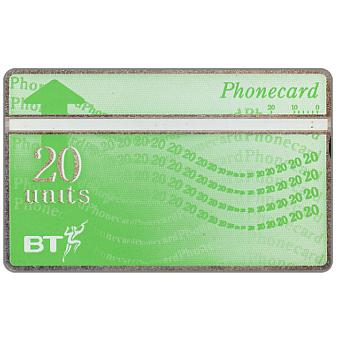 Phonecard for sale: Definitive 8th series, white band, no border, 40 units