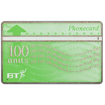 Phonecard for sale: Definitive 9th series, white band, silver border, 100 units