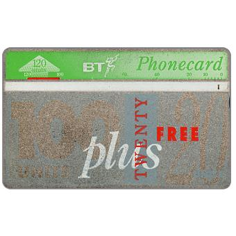 Phonecard for sale: Definitive 10th series, free units offer, 100+20 units