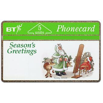 Phonecard for sale: Christmas '91, Going Green, 5 units