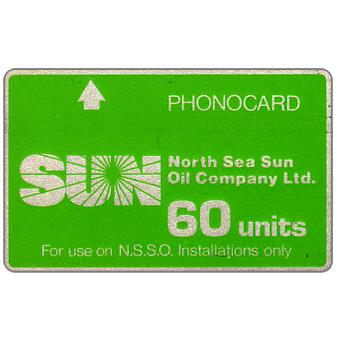 Phonecard for sale: North Sea Sun Oil Company Ltd, without notch, 60 units