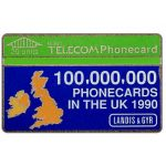 Phonecard for sale: 100,000,000 Phonecards in the UK, 20 units