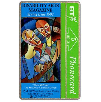 Phonecard for sale: Disability Arts Magazine, 5 units