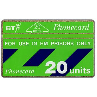 Phonecard for sale: For use in HM Prisons only, green band, 20 units
