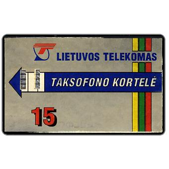 Phonecard for sale: Lietuvos Telekomas, Taksofono Kortele, 15 Lt
