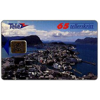 Phonecard for sale: View of Alesund, 1/92, chip SC-5, 65 units