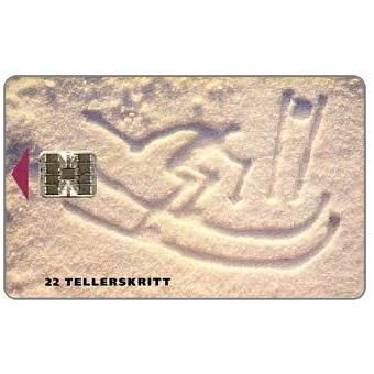 Phonecard for sale: Lillehammer 1994, Downhill Skiing, 1/93, 22 units