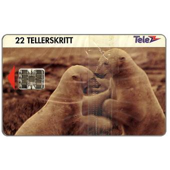 Phonecard for sale: Polar bears, 22 units