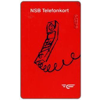 Phonecard for sale: NSB Telefonkort - Phone, red number, Kr.20
