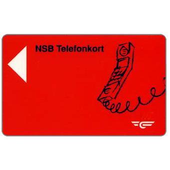 Phonecard for sale: NSB Telefonkort - Phone, black number on reverse, Kr.20
