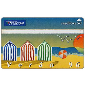 Phonecard for sale: Portugal Telecom - Summer 96 puzzle 1/2, 50 units