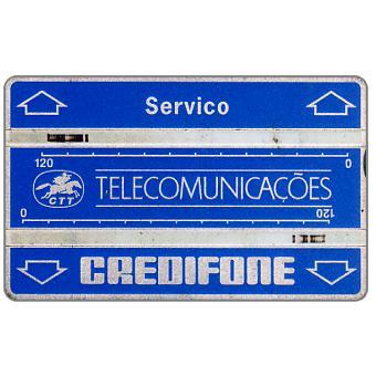 """Phonecard for sale: CTT Telecomunicações - Service card """"Servico"""", code 108L, 240 units"""