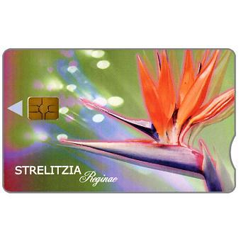 Telkom - Flowers, Strelitzia, expiry date 2002/07, notched, R20