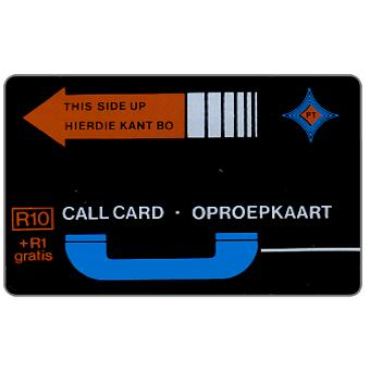 Phonecard for sale: PT Trial cards - First issue, brown-orange arrow, no notch, no control, R10