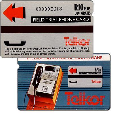 Phonecard for sale: Telkor - Field trial, payphone, R10