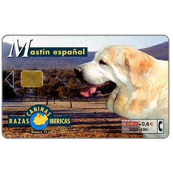 Phonecard for sale: Razas Caninas Ibericas, Mastin espanol, 2000+100 pta