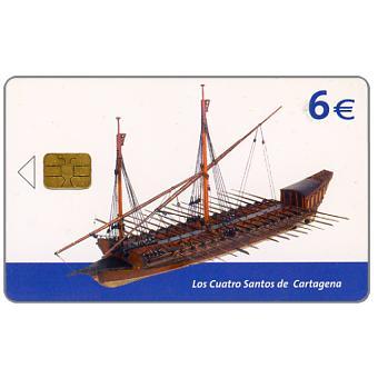 Phonecard for sale: Ship museum, Los Cuatro Santos de Cartagena, 6€