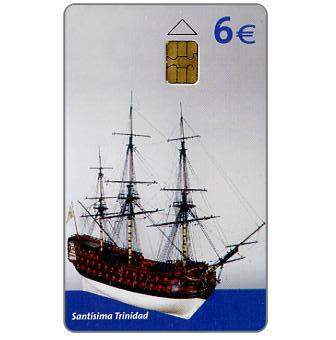 Phonecard for sale: Ship museum, Santisima Trinidad, 6€
