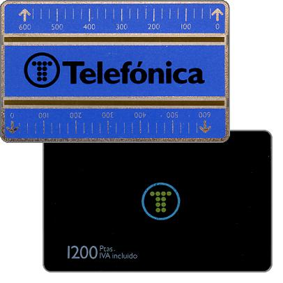 Phonecard for sale: Definitive, 1.5mm optical band, 603A, 1200 pta