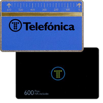 Phonecard for sale: Definitive, 4mm optical band, 711A, 600 pta