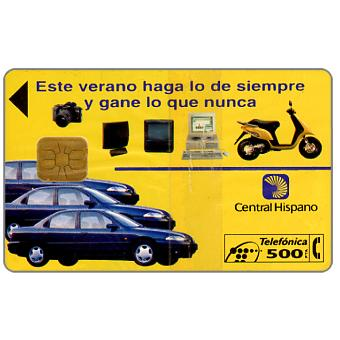 Phonecard for sale: Central Hispano, 500 pta