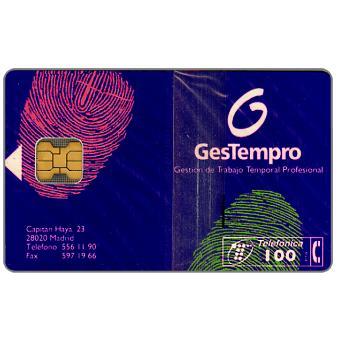 Phonecard for sale: Gestempro, 100 pta