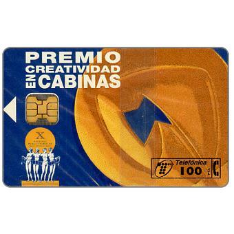 Phonecard for sale: Premio creatividad en cabinas, 100 pta