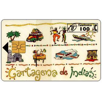 Phonecard for sale: Cartagena de Indias, 100 pta