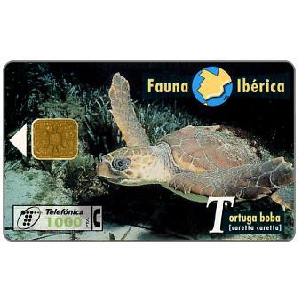 Phonecard for sale: Fauna Iberica, Tortuga boba (Caretta caretta), 1000 pta