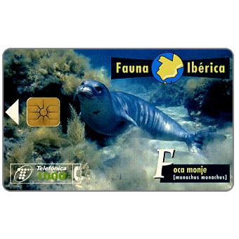 Phonecard for sale: Fauna Iberica, Foca monje (Monachus monachus), 1000 pta