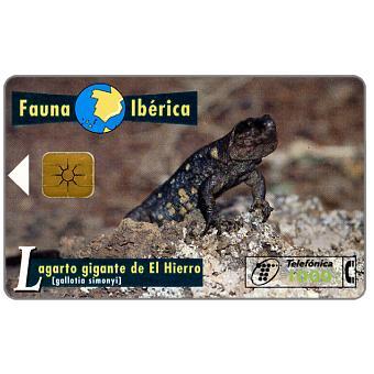 Phonecard for sale: Fauna Iberica, Lagarto gigante de El Hierro (Gallotia simonyi), 1000 pta