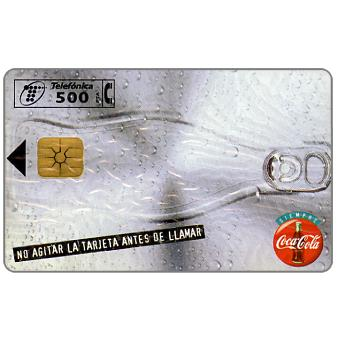 Phonecard for sale: Coca-Cola - can, 500 pta