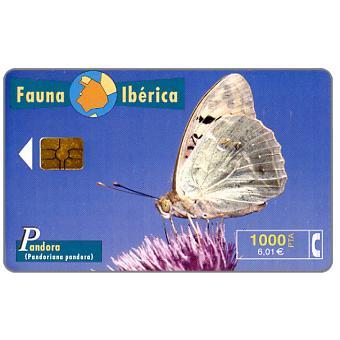 Phonecard for sale: Fauna Iberica, Pandora (Pandoriana pandora), 1000 pta