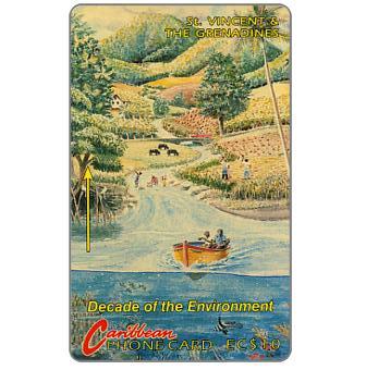 Phonecard for sale: Decade of the Environment, no logo, 3CSVA, EC$10