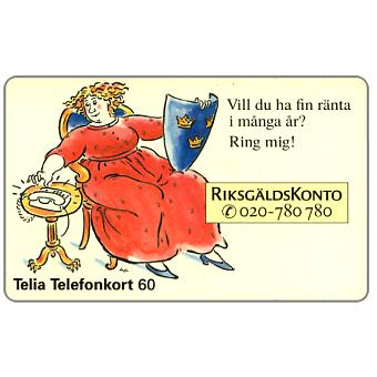 Phonecard for sale: Telia - RiksgaldsKonto, 60 units