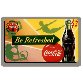 Phonecard for sale: Score Board - Coca-Cola, Be Refreshed, $2