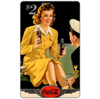 Phonecard for sale: Score Board - Coca-Cola, Girl with GI, $2