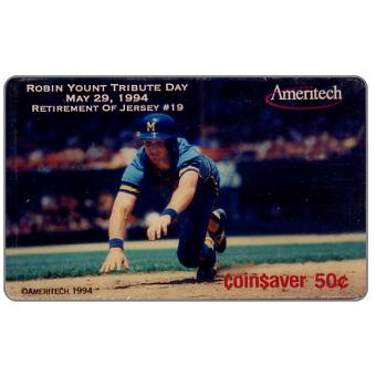 Phonecard for sale: Ameritech - Robin Yount Tribute Day, 50c.