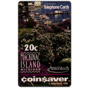 Phonecard for sale: Ameritech - Mackinac Island, Michigan, 20c.