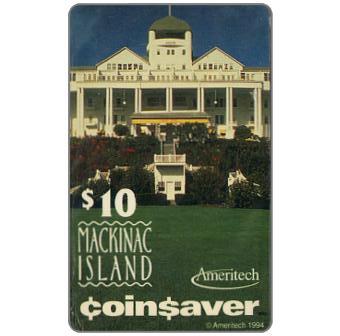 Phonecard for sale: Ameritech - Mackinac Island, Michigan, $10