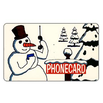 Phonecard for sale: Citybank - Winter, snow-man