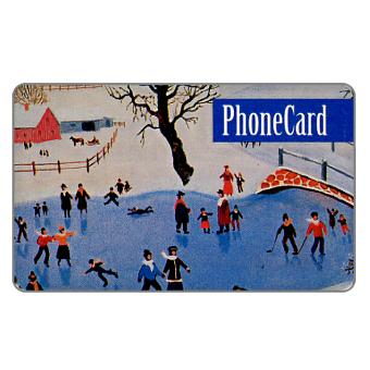 Phonecard for sale: Citybank - Winter, skating