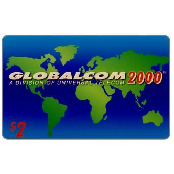 Phonecard for sale: Globalcom 2000 - Third issue definitive, $2