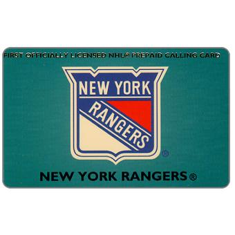 Phonecard for sale: GTS - National Hockey League, New York Rangers, sample overprint, $10