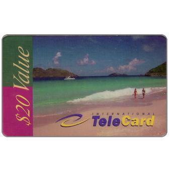 Phonecard for sale: International TeleCard - Beach, $20