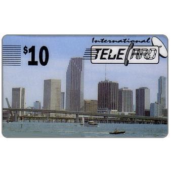 Phonecard for sale: International TeleCard - Skyline, spanish text, $10