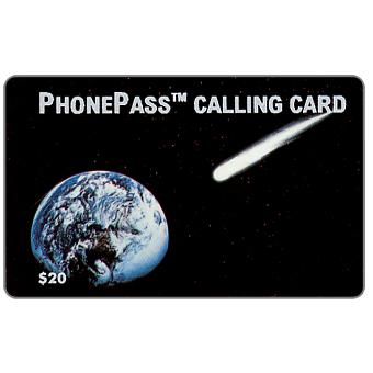 Phonecard for sale: LDDS Worldcom - Comet Streaking To Earth, $20