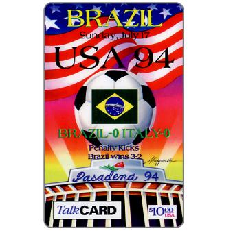 Phonecard for sale: NAT - USA 94, Brazil-Italy, $10