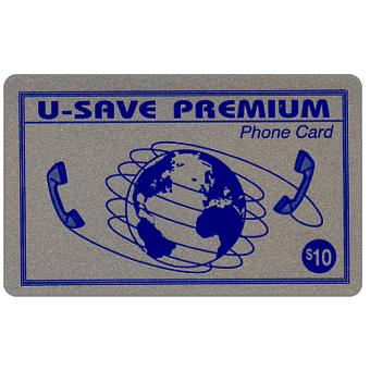 Phonecard for sale: U-Save Premium - Silver card, $10