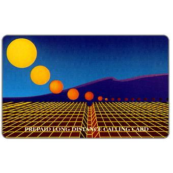 Teraco - Grid with yellow sun and mountains, specimen